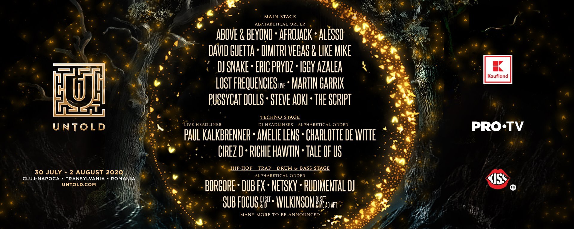 Untold Festival 2020 lineup тур из Украины