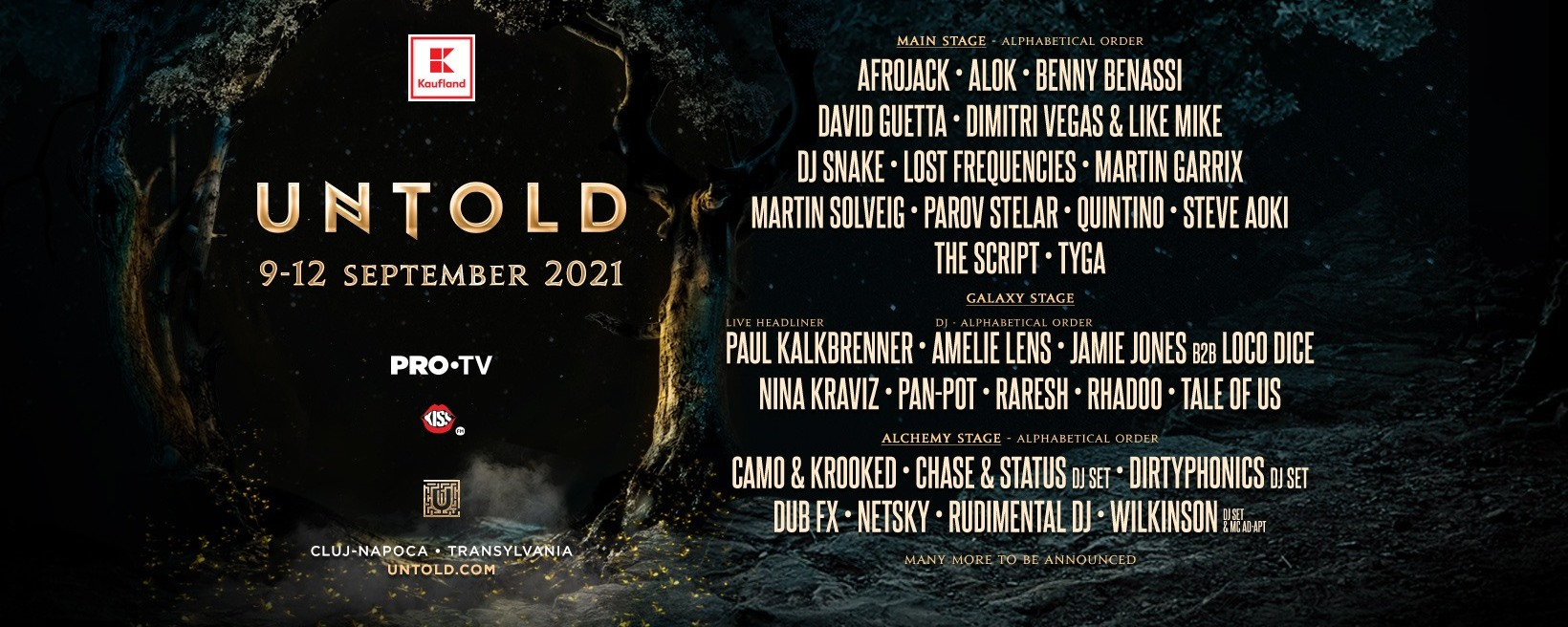 untold 2021 lineup first wave
